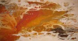 Es Amarillo Mixta sobre tela 140 X 250 cm (díptico)