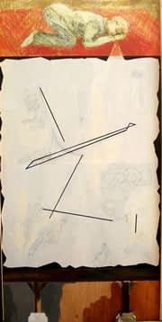 Plegaria No. 16, mixta sobre madera, 244 x 122 cm