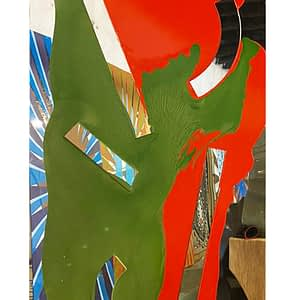 Red and Green Mirror, 2021. Ray Smith