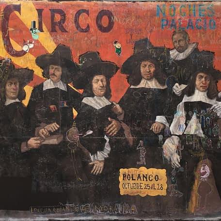 Los guardianes de Moraima, Óleo sobre tela, 180 x 220 cm