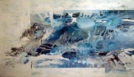 Es Azul Mixta sobre tela 140 X 250 cm (díptico )