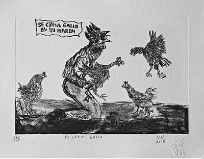 Se creía gallo en su harem