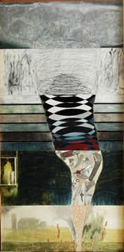 Plegaria No. 15, mixta sobre madera, 244 x 122 cm