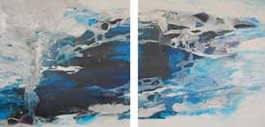 Díptico Azul Mixta sobre tela 180 X 360 cm (díptico )